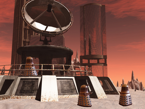 The Daleks on cybermen home planet, angel home planet, sontaran home planet, doctor who dalek planet, time lords the home planet,