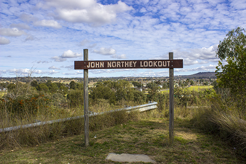 John Northey Lookout at Clive Street Inverell NSW Australia