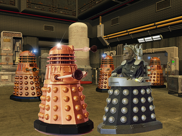 Davros and his Daleks